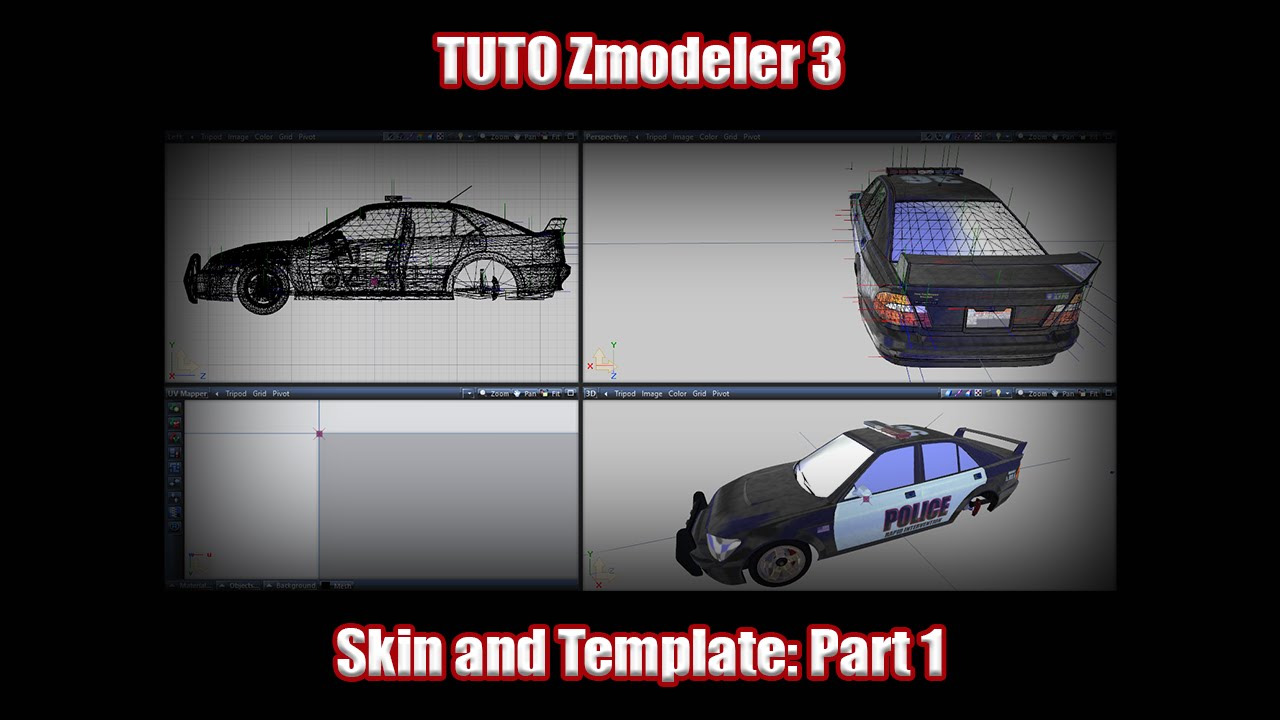 Tuto] Zmodeler 3 How to create template and Skin for GTA V Part 1 ...
