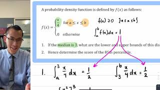 Locating Boundaries of a Distribution from its Median