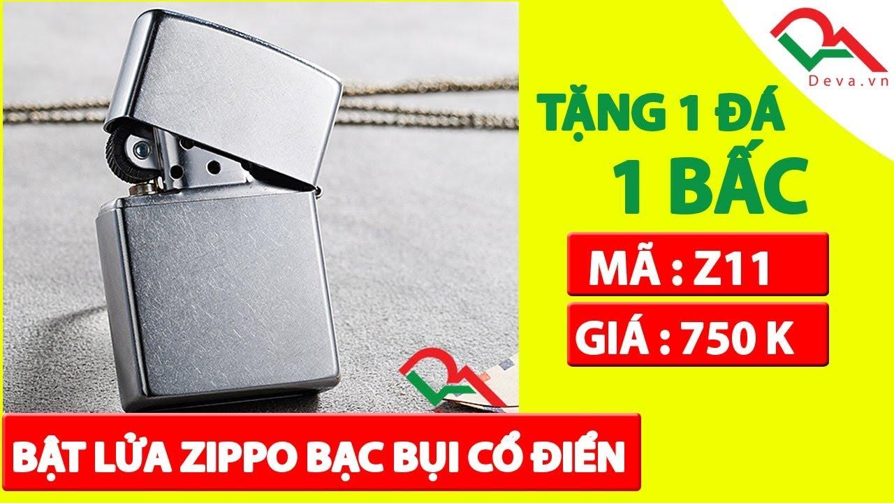 Bật lửa Zippo bạc bụi chính hãng Mỹ Z11 | Deva.vn | Giá 750.000đ