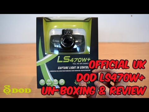 DOD LS470W+ DashCam UnBoxing & Review