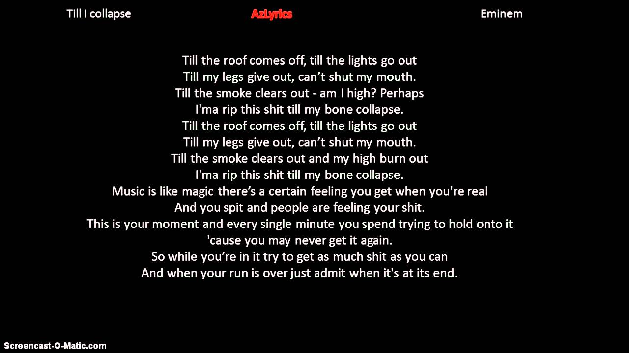 Till I Collapse Songtext