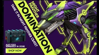 NEW NIGHT PANTHER DOMINATION PET SKIN REVIEW - NIGHT PANTHER BACK IN FREEFIRE
