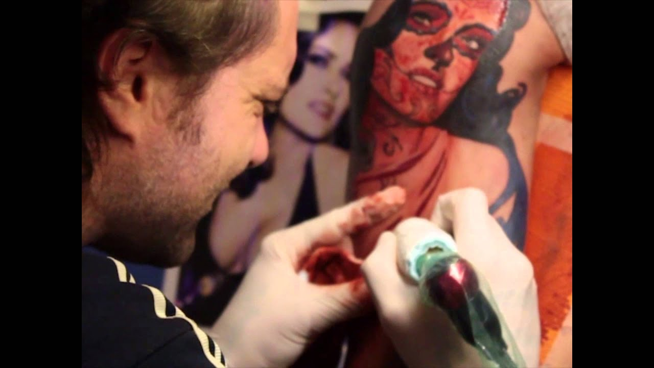 Favoloso Alex de Pase - Salma Hayek- How it is made! - Tatuaggio realistico  TE68