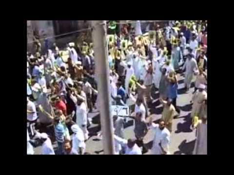 شوف حشود المتظاهرين وف بدابة المسيرة  الشعب يحمي ثورته قنا 6 9 2013