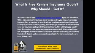 Cheapest Renters Insurance Quotes