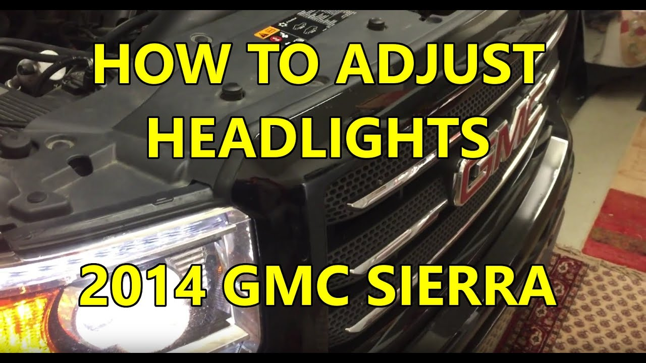Easily Adjust Headlights - 2014 GMC Sierra - YouTube