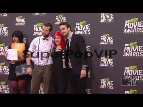 Jeremy Davis, Taylor York, Hayley Williams at 2013 MTV Mo...