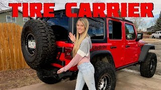 How To Install a Spare Tire Carrier On A Jeep Wrangler JLU Rubicon!