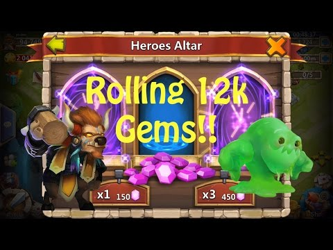 Castle Clash: Getting Minotaur And Rolling 12,000 Gems!!! (Ep.4 Pt.1)
