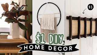 DIY $1 DOLLAR STORE HOME DECOR You Actually Want To Make! *Cute + Easy*