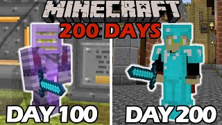 I Survived 200+ Days in the Industrial Revolution in Minecraft