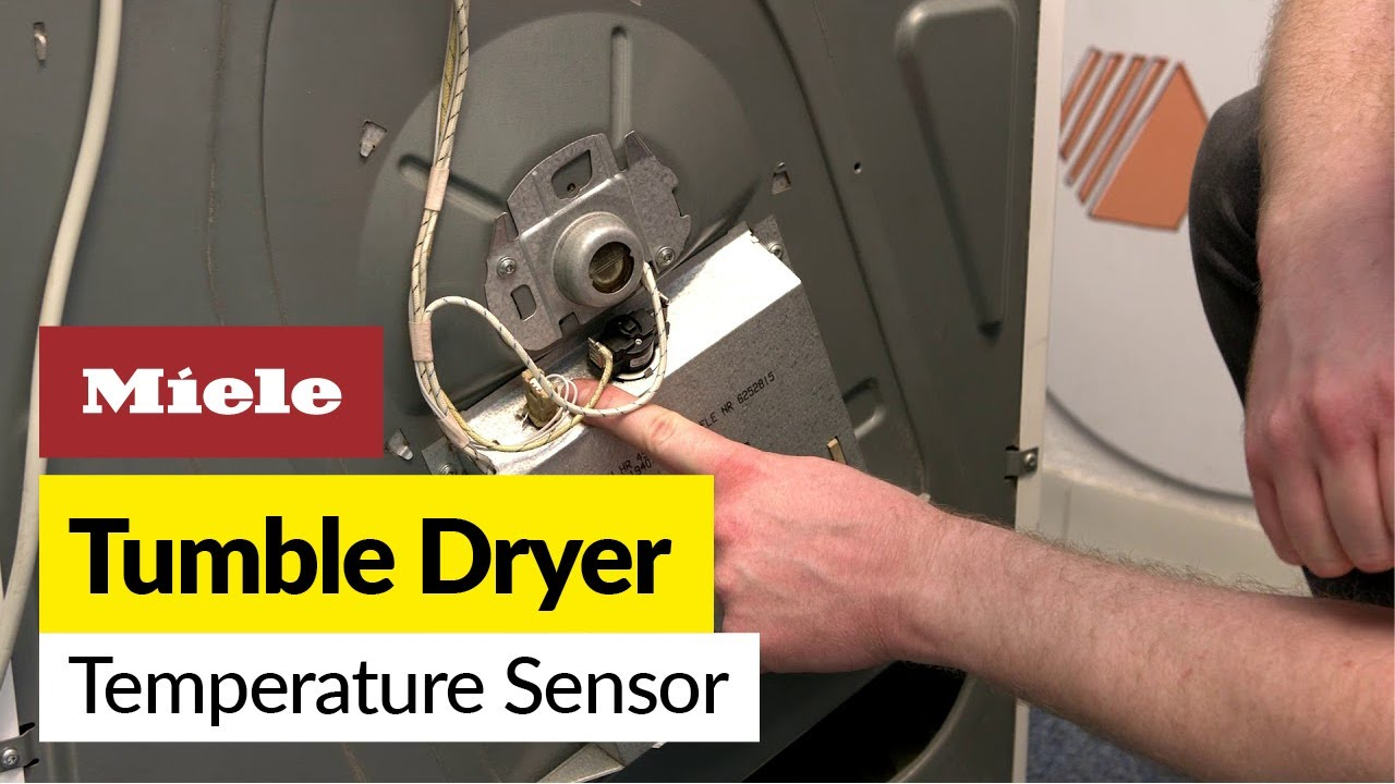 How to replace the temperature sensor on a Miele tumble dryer