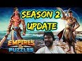 Empires and Puzzles Season 2 update, help, tips, titans live Q and A 9/29