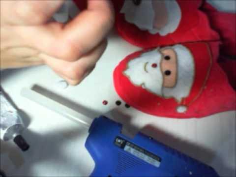 Fai da te tutorial n 23 pantofole natalizie con babbo for Pantofole natalizie