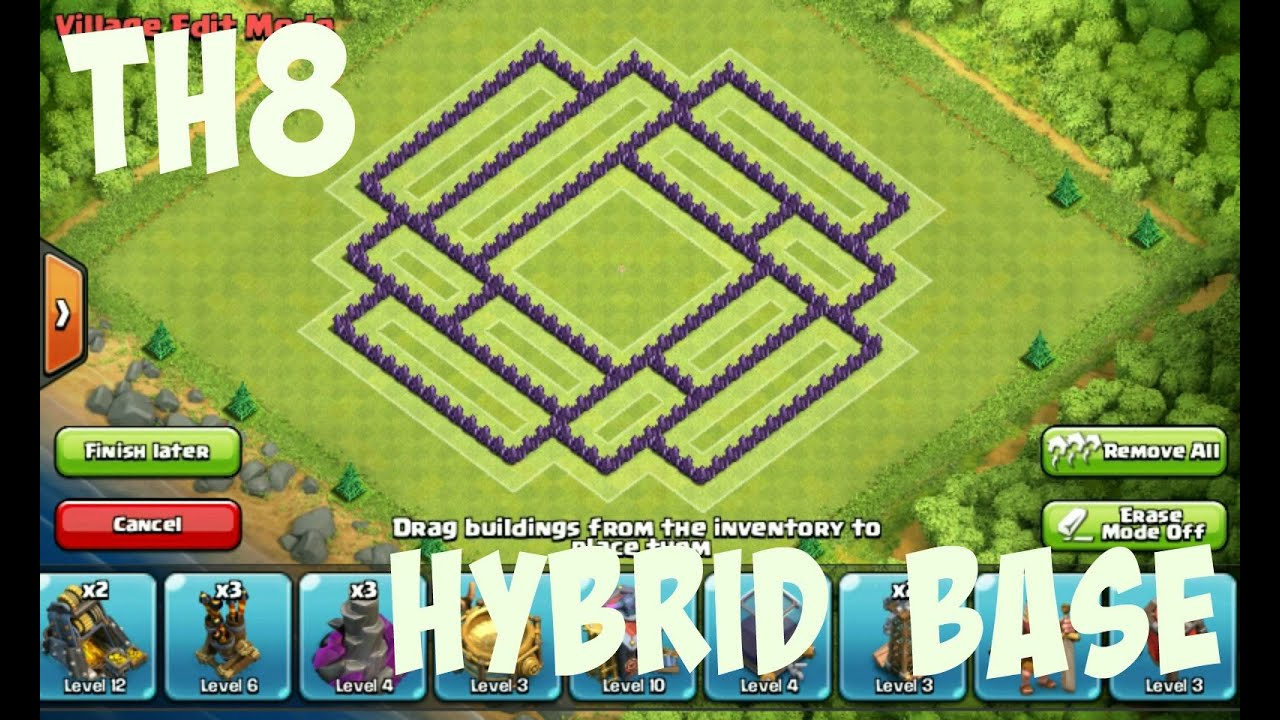Best th8 hybrid base build youtube