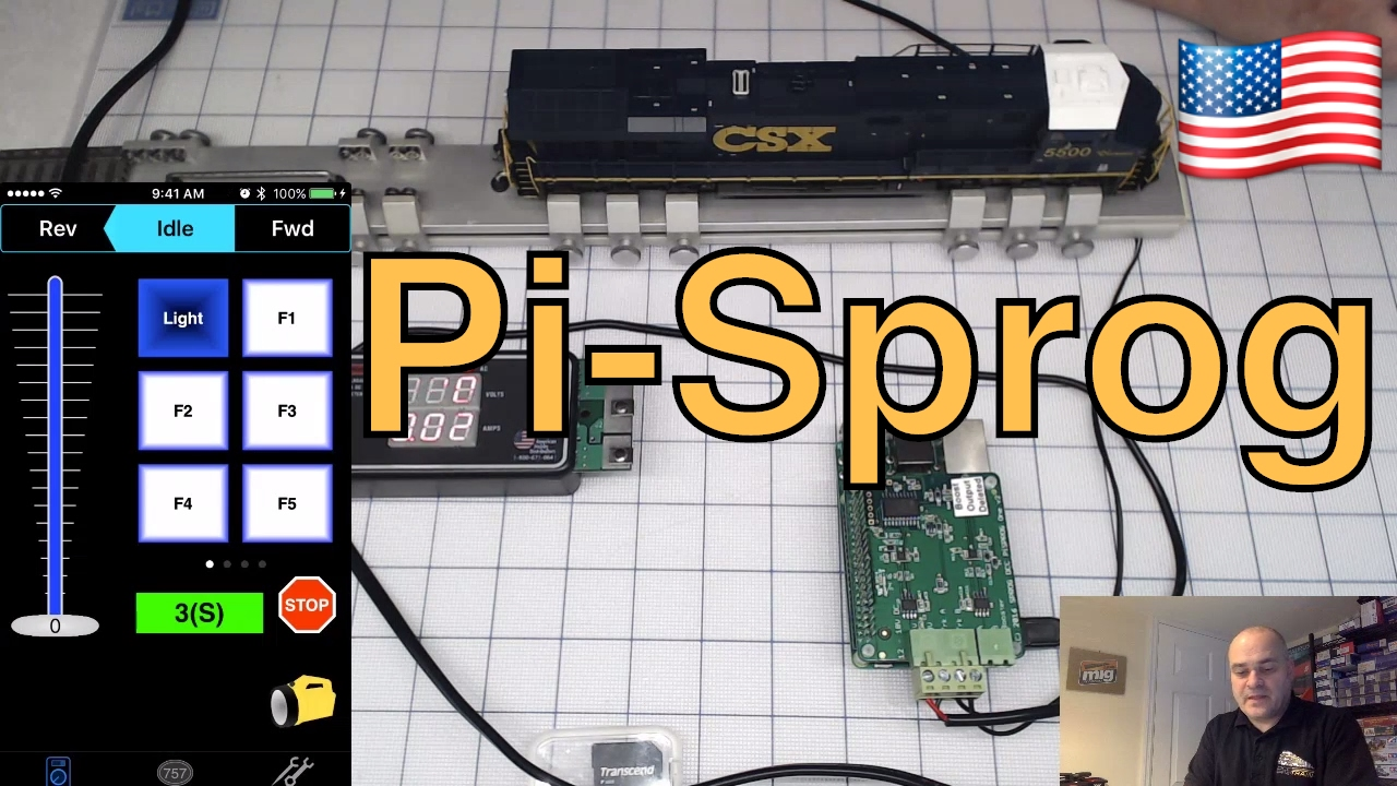 Model trains DCC Pi-Sprog One full system using WiThrottle JMRI smart phone