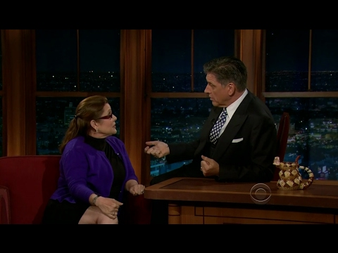 Late Late Show with Craig Ferguson 5/31/2012 Carrie Fisher, Tony Hale