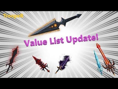 Roblox Assassin Value List 2020.Assassin Value List Update August 11th
