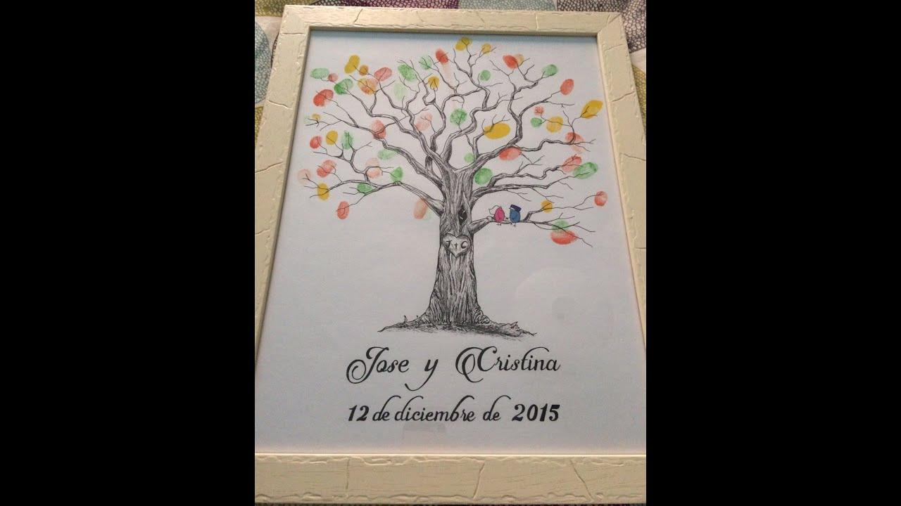 Árbol de huellas para bodas - De Tamara Márquez - YouTube