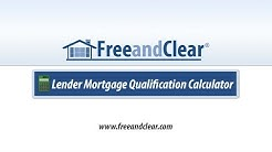 Lender Mortgage Qualification Calculator Video