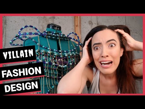 Villain Fashion Design Vlog with Wearable Art Costume Designer. Haute Couture and Avant-Garde Style!