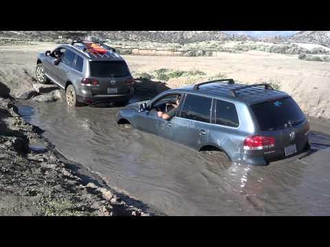 "Volkswagen Touareg in 33"" Deep Water Pit"