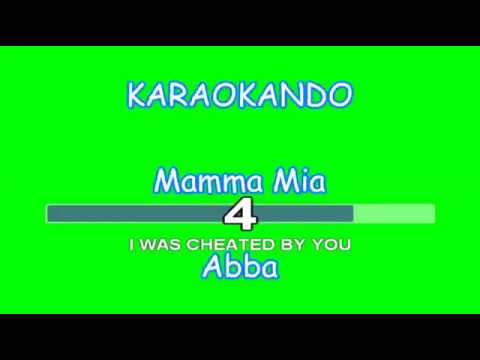 Karaoke Internazionale - Mamma Mia - Abba ( Lyrics )