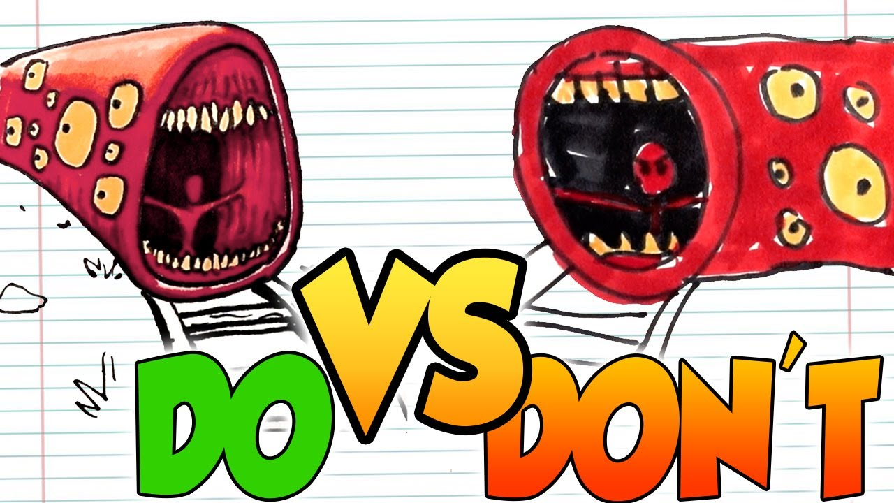 DOs & DON'Ts Drawing Train Eater (Leovincible Creations) In 1 Minute CHALLENGE!