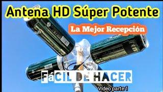ANTENA CASERA HD TDT SUPER POTENTE ( La mejor recepción ) Parte 1