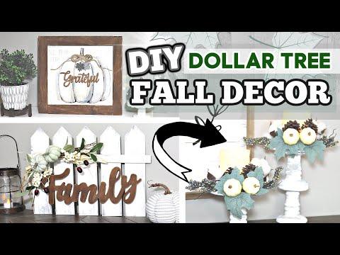 DIY DOLLAR TREE FALL DECOR 2020 | *NEW* Farmhouse Dollar Tree DIY FALL Ideas | Krafts By Katelyn