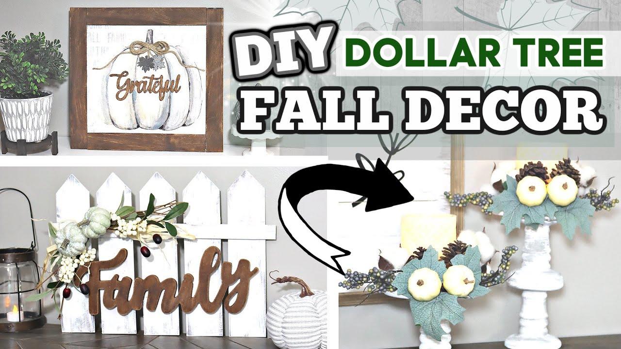 Diy Dollar Tree Fall Decor 2020 New Farmhouse Dollar Tree Diy Fall Ideas Krafts By Katelyn Youtube