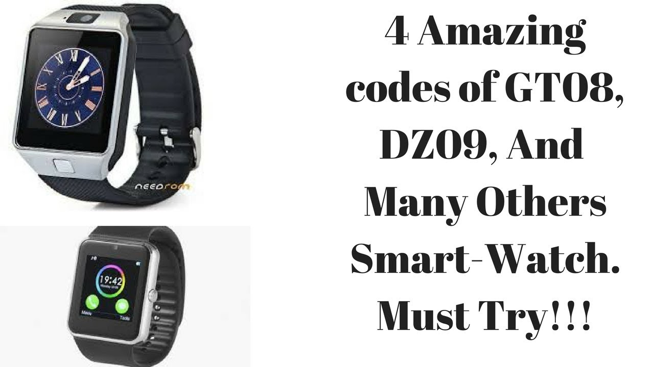 Try these codes on your SMART WATCH Now