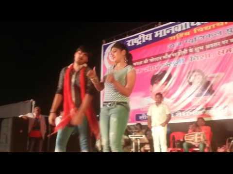 HD  Arvind Akela KALLU  Nisha JI  HOT  SEXY Dance in Stageshow new latest