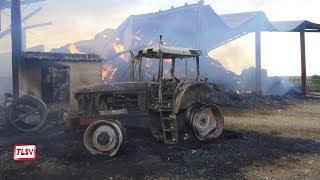 Triaize : incendie dans une exploitation agricole