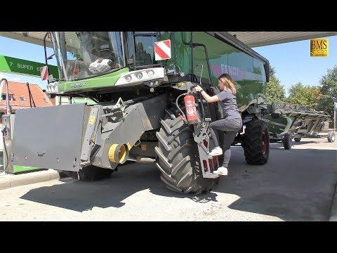 Mhdrescher Fendt 8410 P Agravis Technik Vorfhrung Getreideernte 2018 new combine harvester wheat