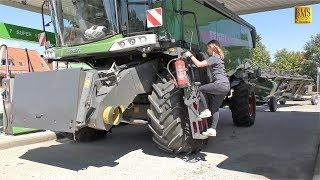 Mähdrescher Fendt 8410 P Agravis Technik Vorführung Getreideernte 2018 new combine harvester wheat