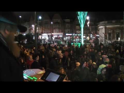 PUBLIC lighting of the Giant Menorah in NW London