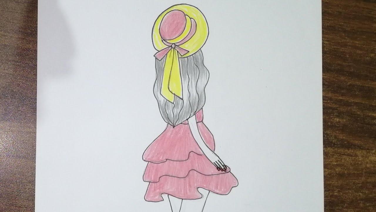 رسم سهل كيفية رسم بنت كيوت سهلة وبسيطة رسم بنات سهل بالرصاص رسم