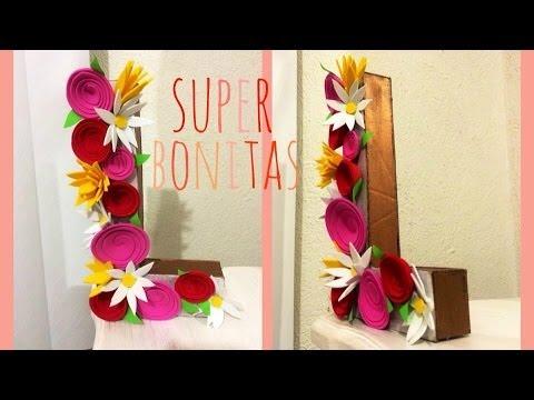 Diy letras decorativas con flores consejosjavier youtube for Plantas decorativas