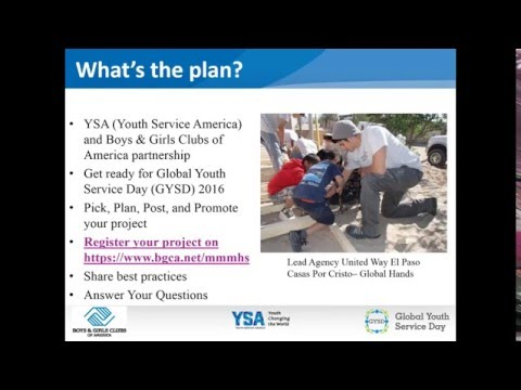 Global Youth Service Day 2016 & Boys and Girls Clubs of America Webinar