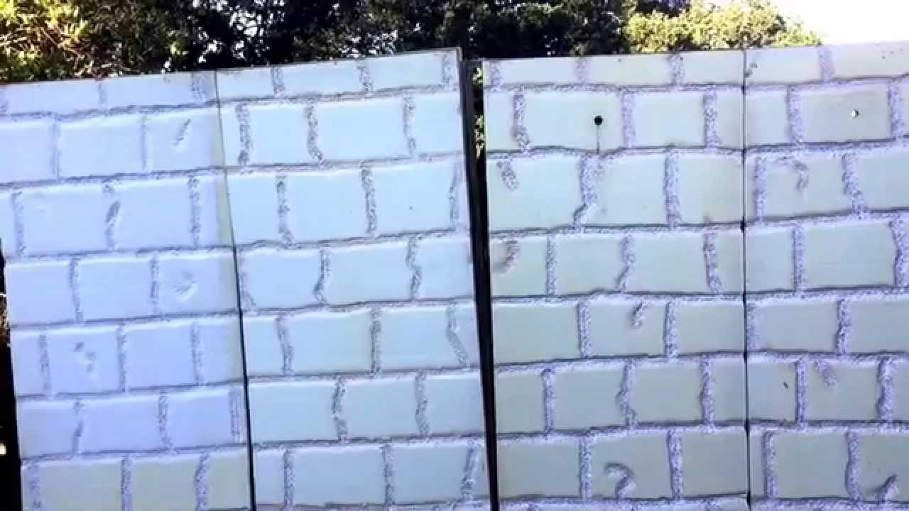 Shaping Wall Panels! Halloween 2015! - YouTube