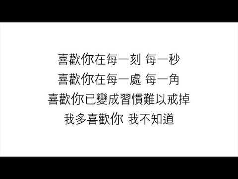 王俊琪—「我多喜歡你,你會知道」[網劇《致我們單純的小美好》主題曲] <歌詞>