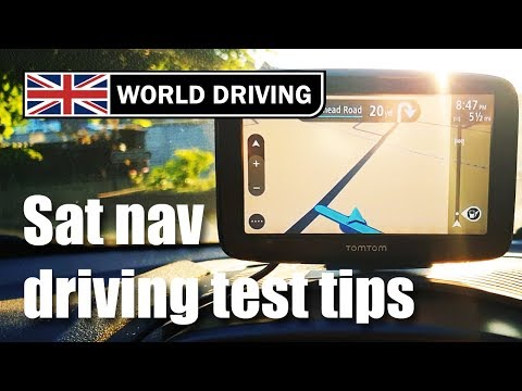 2019 UK Driving Test Tips - Sat Nav - What You Need To Know