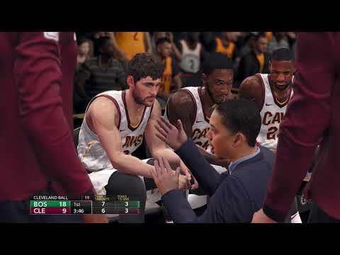 NBA Live 18 Opening Day Boston Celtics vs Cleveland Cavaliers 2017 2018 Season