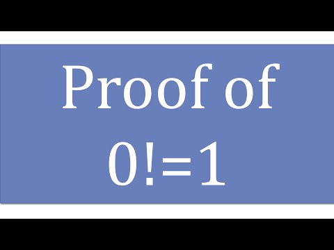proof of zero factorial is equal to 1