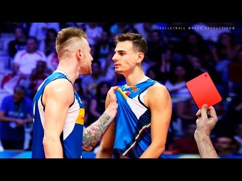 10 Craziest Red/Yellow Cards 2018 | Famous Volleyball Players ᴴᴰ