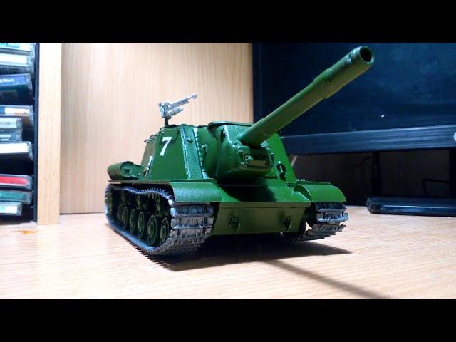 Итог сборки модели ИСУ-152 Звезда