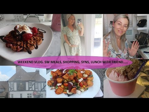 WEEKEND VLOG. SW MEALS, LUNCH WITH A FRIEND & SHOPPING!