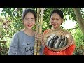 Awesome Cooking Sugarcane With Fish Deliciuos Recipe - Cook Fish Recipes - Village Food Factory