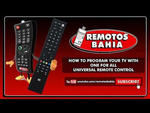 HOW TO PROGRAM YOUR TV WITH ONE FOR ALL UNIVERSAL REMOTE CONTROL (ALMOST) ALL MODELS